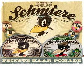 Logos-Schmiere-Haarpflege-Pomade
