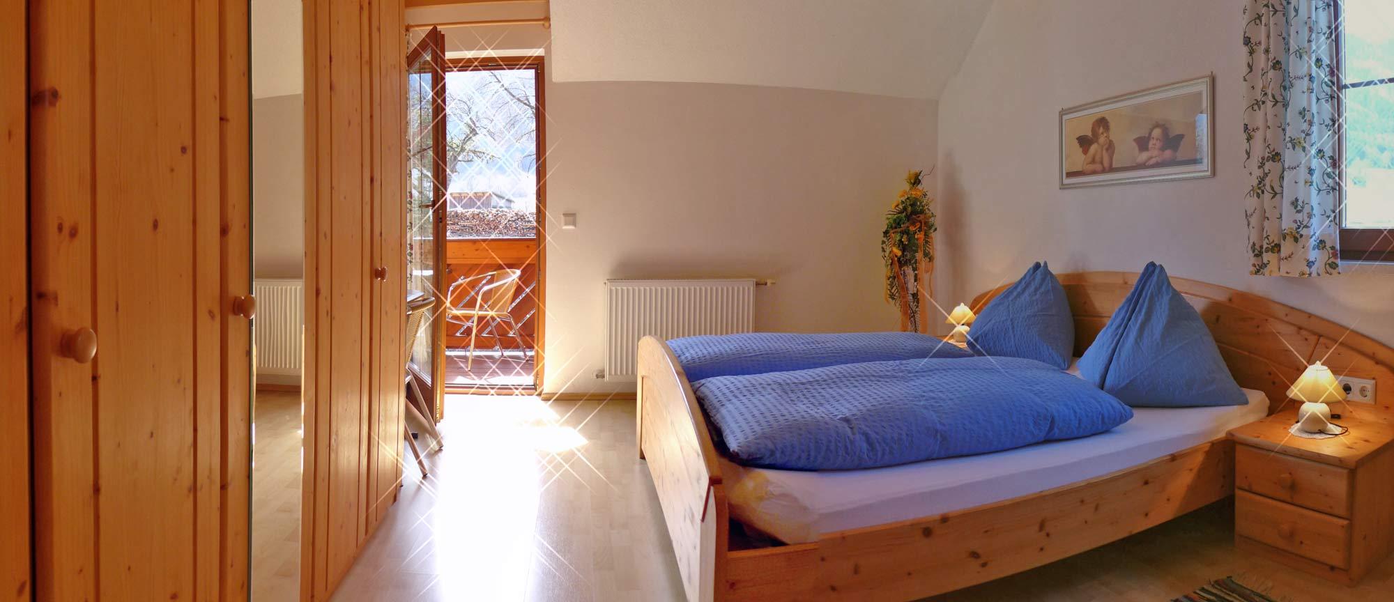 Das Schlafzimmer der Ferienwohnung Doreen