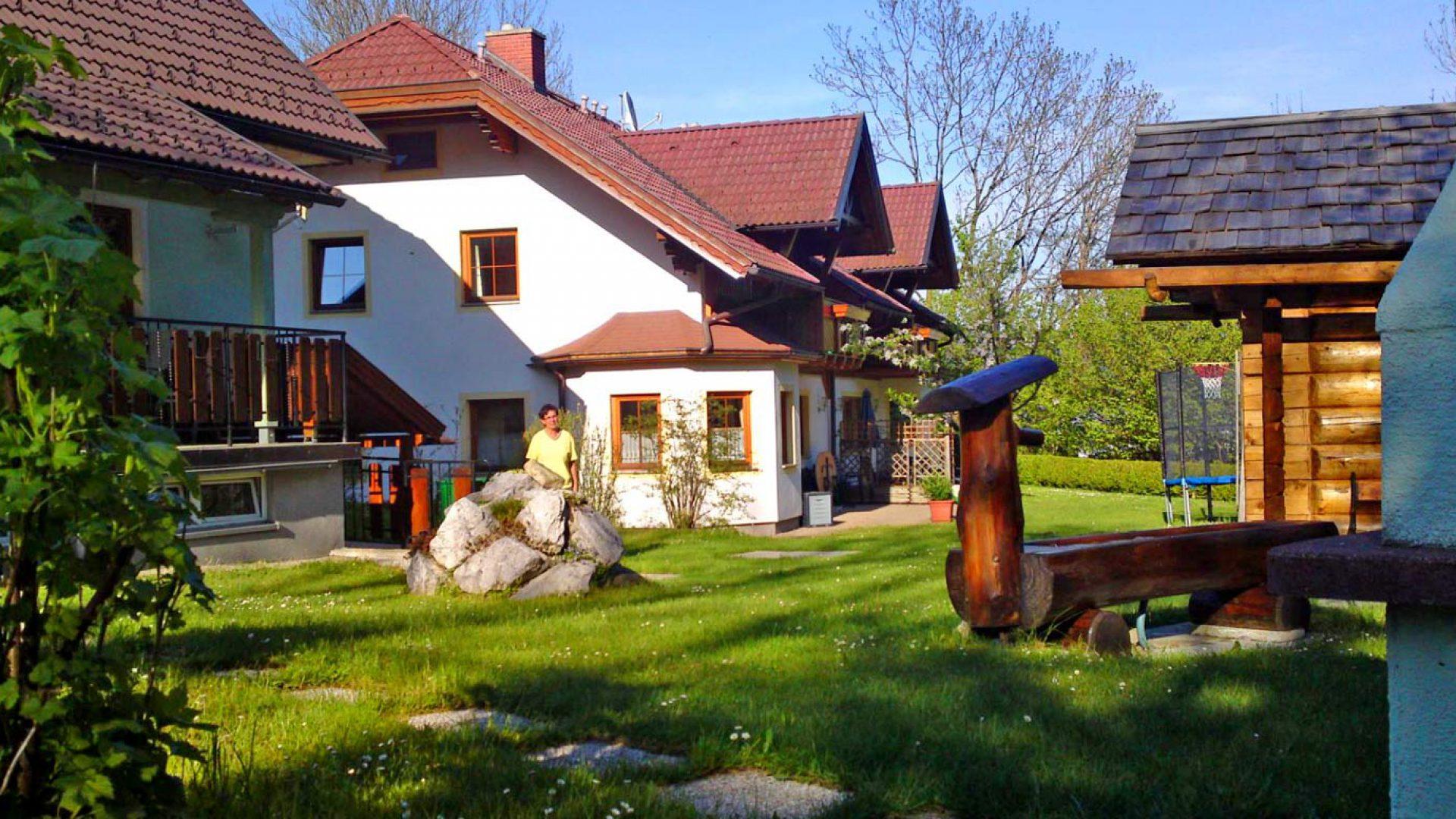 Der Garten des Ferienhaus Reinbacher