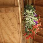 Balkon mit Holzboden